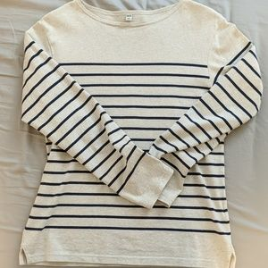 Uniqlo Stripe Long Sleeve Shirt